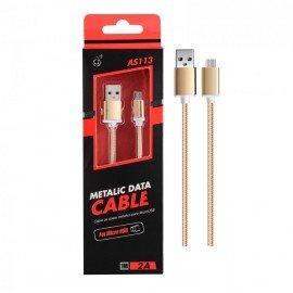 Cable Micro USB 2.0 Smartphones y Tabletas Knob Dorado
