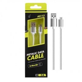 Cable Micro USB 2.0 Smartphones y Tabletas Knob Plateado