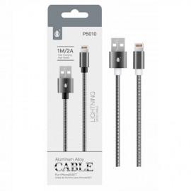 Cable Lightning para Iphone 2A 1 metro Negro