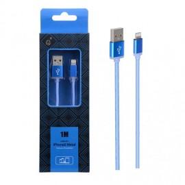 Cable Lightning metal Iphone 2A 1 metro Azul