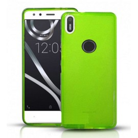 Funda Gel BQ Aquaris X Flexible y lavable verde