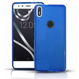 Funda Gel BQ Aquaris X Pro Flexible y lavable azul