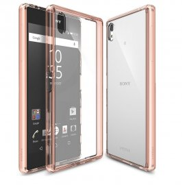 Funda Sony Xperia XA Gel Transparente con bordes Rosa