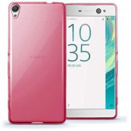 Funda Gel Sony Xperia XA1 Flexible y lavable Rosa