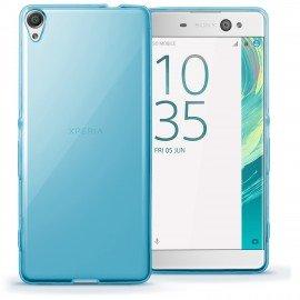Funda Gel Sony Xperia XA1 Ultra Flexible y lavable azul