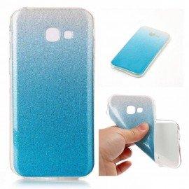 Funda Gel Samsung Galaxy A5 2017 Glitter Azul