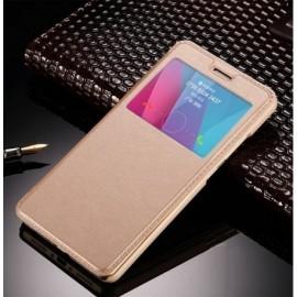 Funda Flip Ventana Galaxy S8 Plus Dorada