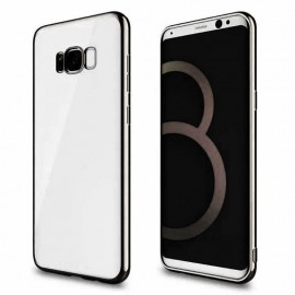 Funda Gel Galaxy S8 con bordes Cromados Negro