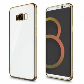 Funda Gel Galaxy S8 con bordes Cromados Dorado