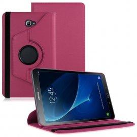 Funda Cuero Galaxy Tab A T580 10.1 Giratoria Rosa