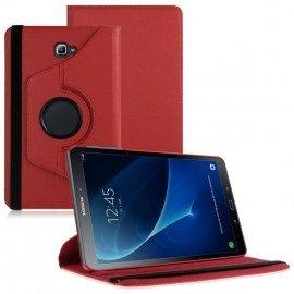 Funda Cuero Galaxy Tab A T580 10.1 Giratoria Roja