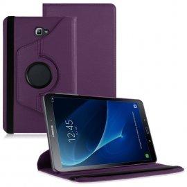 Funda Cuero Galaxy Tab A T580 10.1 Giratoria Morada
