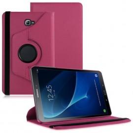 Funda Cuero Galaxy Tab A T585 10.1 Giratoria Rosa