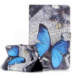 Funda Cuero Galaxy Tab A T580 10.1 Giratoria Mariposa