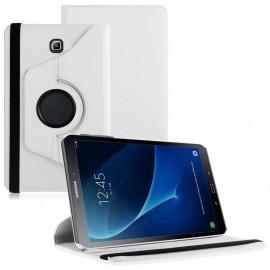 Funda Cuero Galaxy Tab S2 T813 9.7 Giratoria Blanca