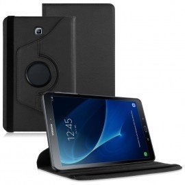 Funda Cuero Galaxy Tab S2 T813 9.7 Giratoria Negra