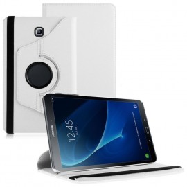 Funda Cuero Galaxy Tab S2 T815 9.7 Giratoria Blanca
