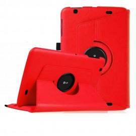 Funda Cuero LG V700 Pad Giratoria Roja