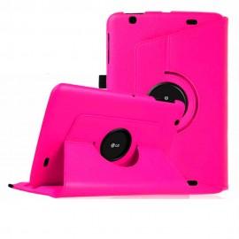 Funda Cuero LG V700 Pad Giratoria Rosa
