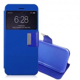 Funda Libro Alcatel Idol 4S con Tapa Azul