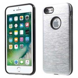 Carcasa iPhone 7 Hybrid AntiGolpes Gris Metal y Gel