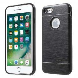 Carcasa iPhone 7 Hybrid AntiGolpes Negra Metal y Gel