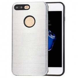 Carcasa iPhone 7 Plus Hybrid AntiGolpes Gris Metal y Gel