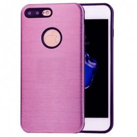 Carcasa iPhone 7 Plus Hybrid AntiGolpes Rosa Metal y Gel