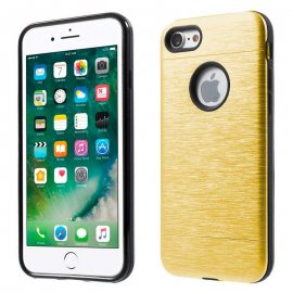 Carcasa iPhone 7 Hybrid AntiGolpes Dorada Metal y Gel