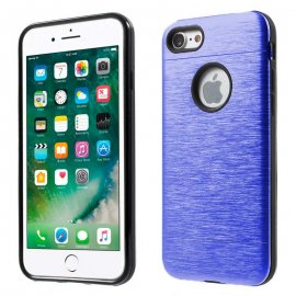 Carcasa iPhone 6S Hybrid AntiGolpes Azul Metal y Gel
