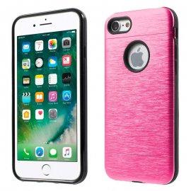 Carcasa iPhone 6 Plus Hybrid AntiGolpes Rosa Metal y Gel