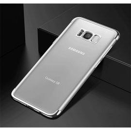 Funda Gel Galaxy S8 con Esquinas Cromados