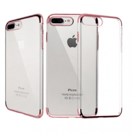 Funda Gel iPhone 7 Plus con Esquinas Rosa