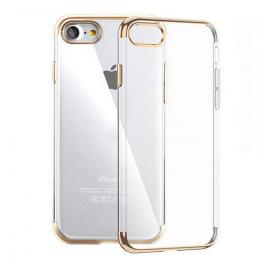 Funda Gel iPhone 7 con Esquinas Oro