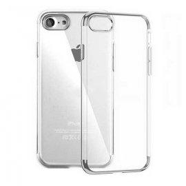Funda Gel iPhone 7 con Esquinas Gris