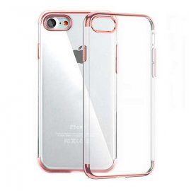 Funda Gel iPhone 7 con Esquinas Oro Rosa