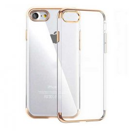 Funda Gel iPhone 6S con Esquinas Dorado
