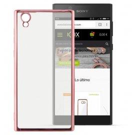 Funda Gel Sony Xperia L1 con bordes Cromados Rosa