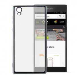Funda Gel Sony Xperia L1 con bordes Cromados Gris