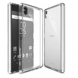 Funda Gel Sony Xperia Z5 con bordes Cromados Plata