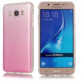Funda Gel Samsung Galaxy J7 2016 Glitter Rosa