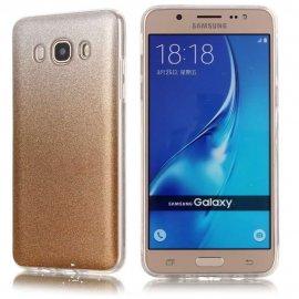 Funda Gel Samsung Galaxy J7 2016 Glitter Oro
