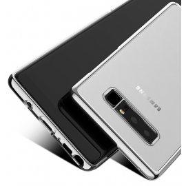 Funda Gel Galaxy Note 8 con bordes Cromados