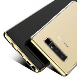 Funda Gel Galaxy Note 8 con bordes Cromados Dorado Oro