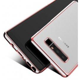 Funda Gel Galaxy Note 8 con bordes Cromados Oro Rosado