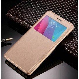 Funda Flip Ventana Galaxy Note 8 Dorada