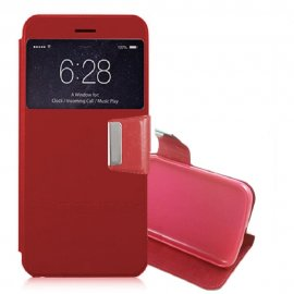 Funda Libro Samsung Galaxy S7 Edge con Tapa Roja