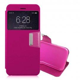 Funda Libro Samsung Galaxy S7 Edge con Tapa Rosa