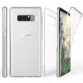 Funda Gel Galaxy Note 8 Doble Cara Ultra fina Transparente