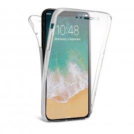Funda Gel iPhone X Doble Cara Ultra fina Transparente